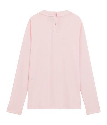 T-shirt bambina con colletto alla collegiale rosa Vienne