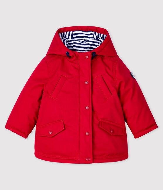 Parka lunghezza midi bebè maschio rosso Terkuit