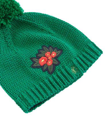 Cappellino bambina verde Ecology