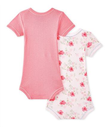 Lotto di 2 bodies per bebé femmina a maniche corte