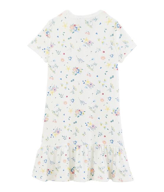 Camicia da notte bambina con diadema bianco Marshmallow / bianco Multico