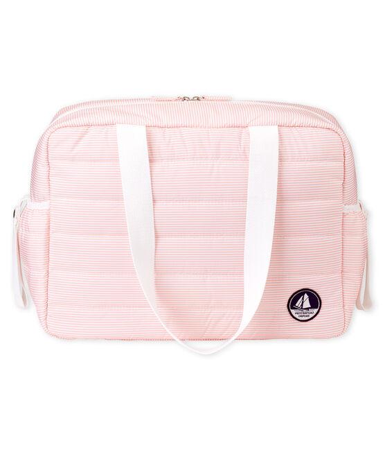 Borsa fasciatoio bebè unisex millerighe rosa Rosako / bianco Marshmallow