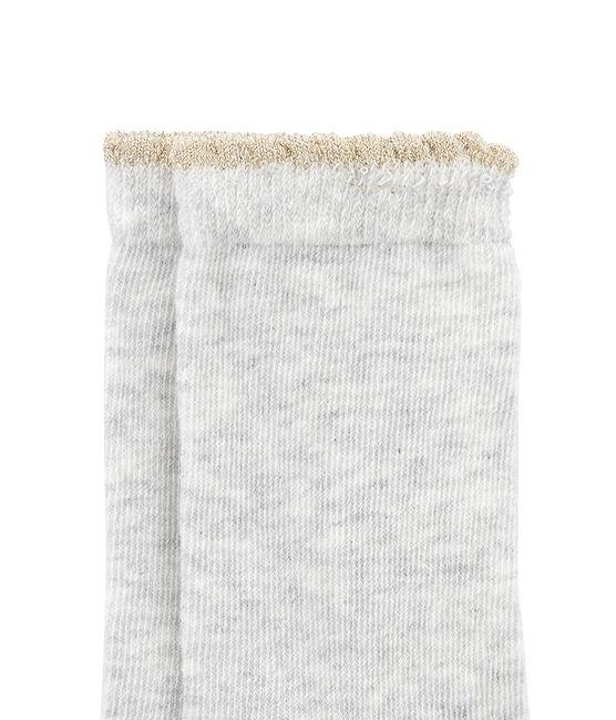 Calze per bambina grigio Beluga