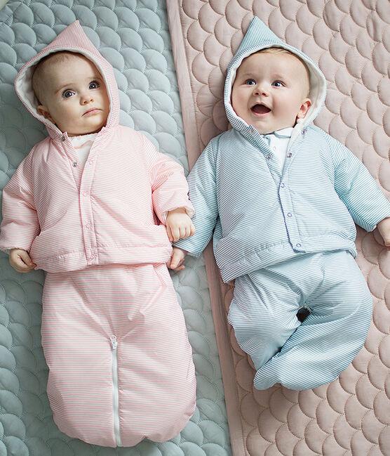 Titina da pilota 3 in 1 bebè unisex rosa Rosako / bianco Marshmallow