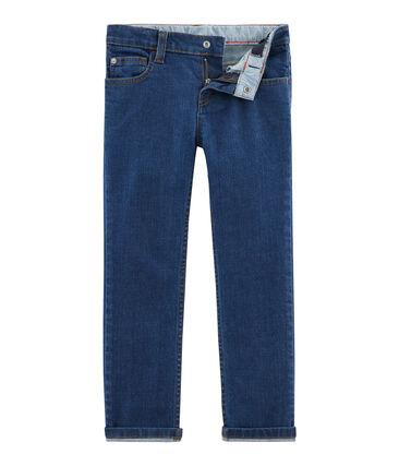 Pantaloni in denim bambino blu Denim Moyen