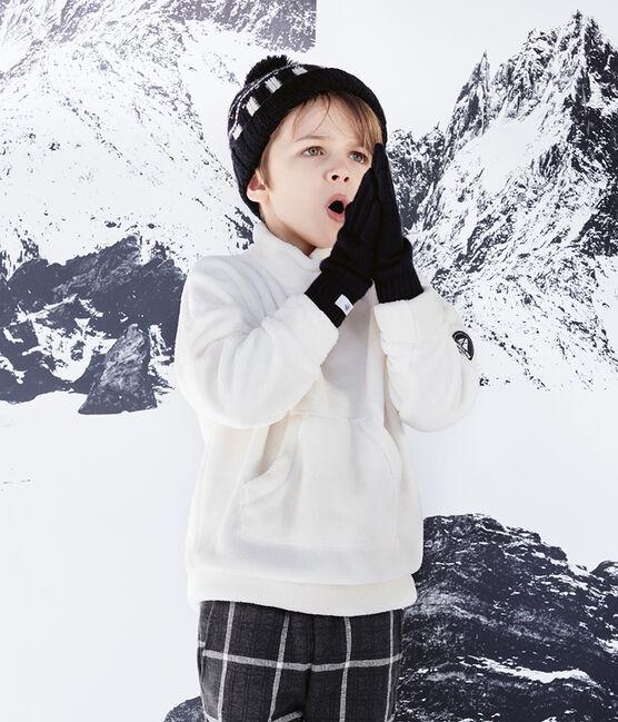 Felpa in pile arricciato da bambino bianco Marshmallow