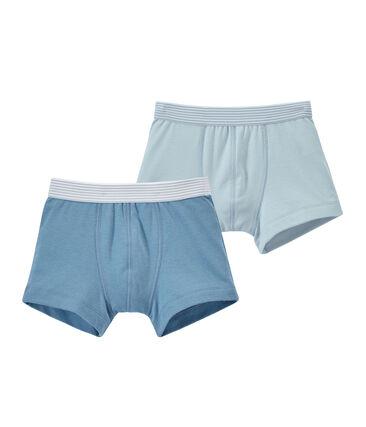 Lotto di 2 boxers per bambino tinta unita