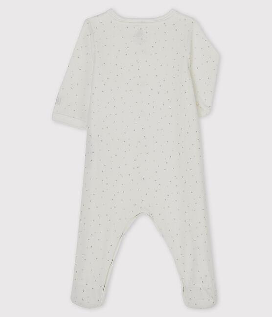 Tutina bianca con stampa stelle in velluto bianco Marshmallow / bianco Multico