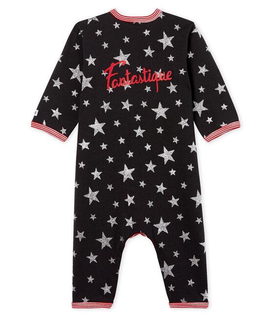 Tutina pigiama senza piedi bambino a costine grigio Capecod / grigio Argent