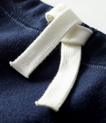 Short bebè unisex a tinta unita blu Smoking