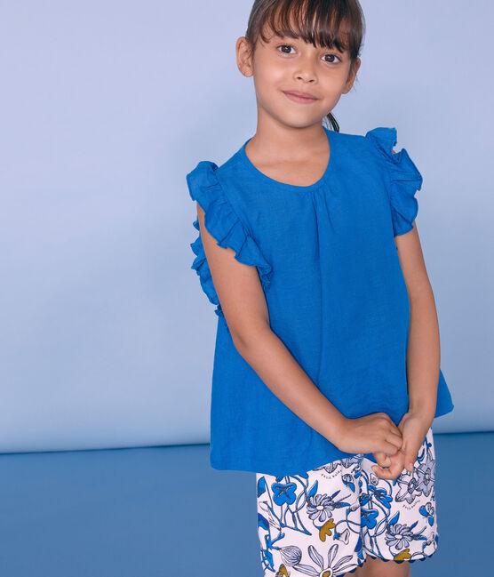 Bermuda bambina bianco Marshmallow / bianco Multico