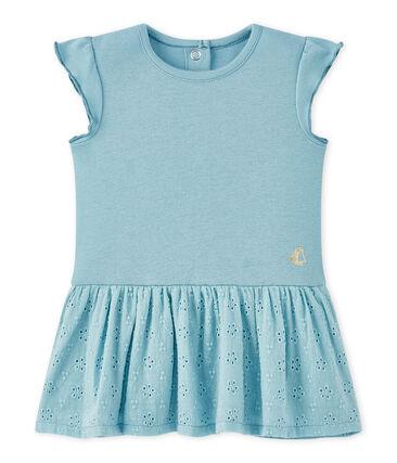 Abito bebè bambina con maniche a farfalla blu Mimi