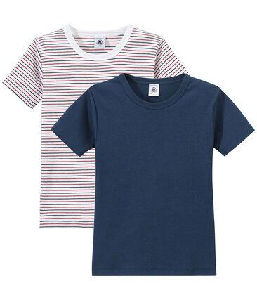 Lotto di 2 t-shirts per bambino a maniche corte