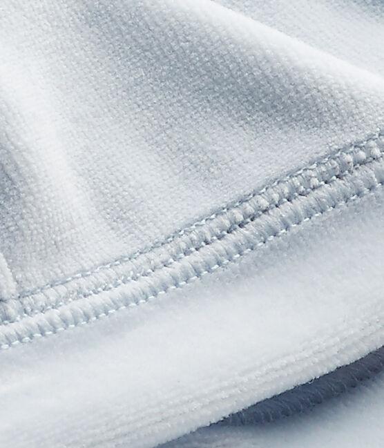 Cappello nascita per bebè in ciniglia blu Fraicheur