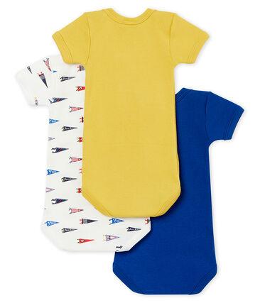 Lotto di 3 bodies a maniche corte bebé maschio