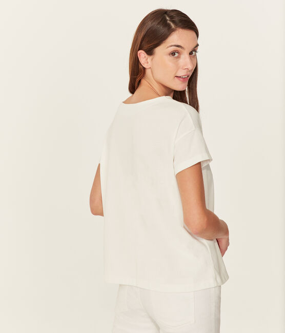 T-shirt maniche corte donna bianco Marshmallow