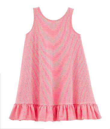 Abito senza maniche bebè femmina rosa Petal / blu Crystal