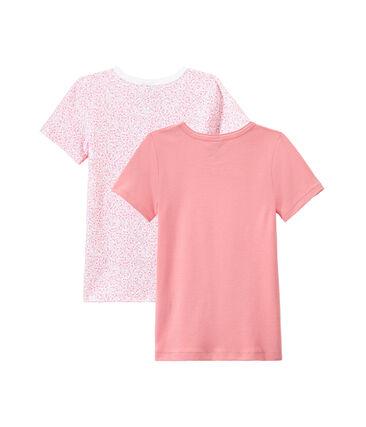 Lotto di 2 t-shirts per bambina a maniche corte