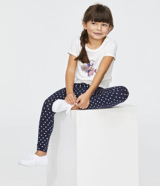 Legging bambina blu Smoking / bianco Multico