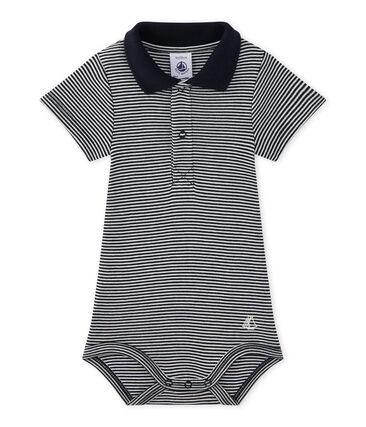 Body bebé bambino con colletto rigato