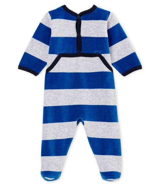 Tutina per bebé maschio blu Limoges / grigio Poussiere