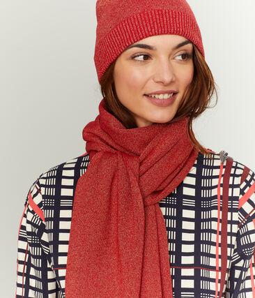 Sciarpa luccicante donna rosso Terkuit / rosso Terkuit Brillant