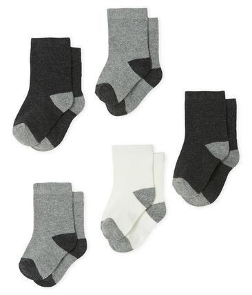 Confezione da 5 paia di calzini basici bebè maschio