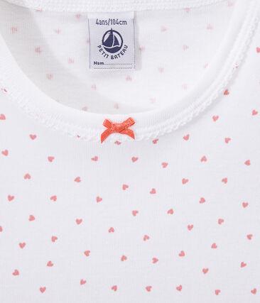 Camicia da notte bambina con stampa a cuori