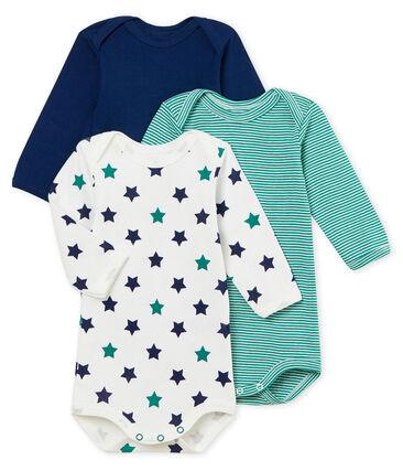 Lotto di 3 bodies a maniche lunghe bebé maschio lotto .