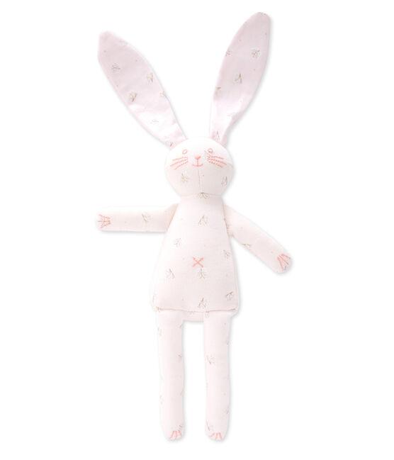 Doudou lapin rosa Vienne / bianco Ecume