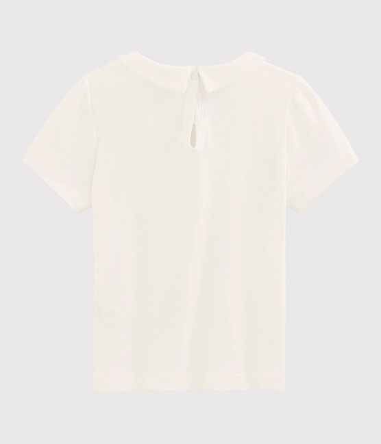 T-shirt a maniche corte in cotone bambina bianco Marshmallow