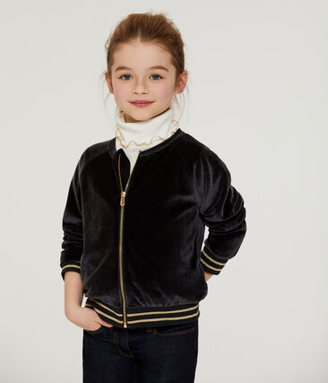 Cardigan bambina nero Noir