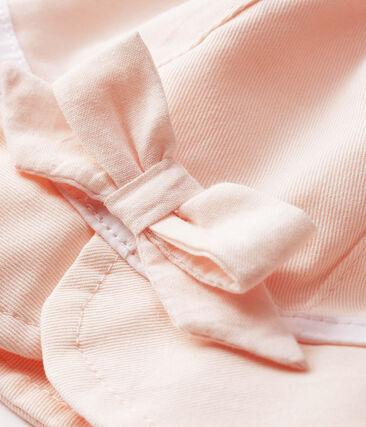 Cappellina in twill bebè bambina rosa Fleur