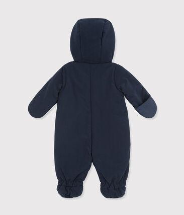 Tutina da pilota bebè unisex in microfibra blu Abysse