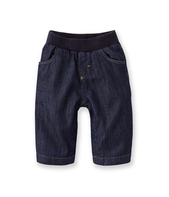 Pantaloni bebé in jeans blu Jean