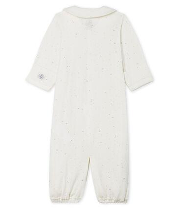 Combisac bebè in tubique bianco Marshmallow / bianco Multico Cn