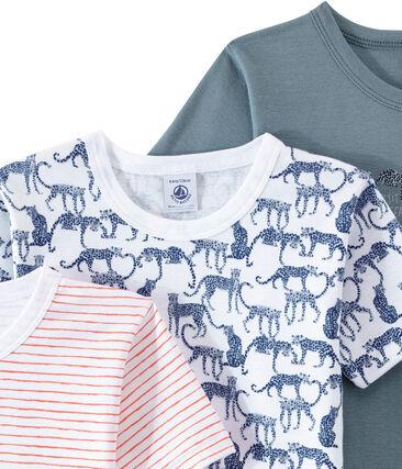 Lotto di 3 t-shirts per bambino a maniche corte lotto .