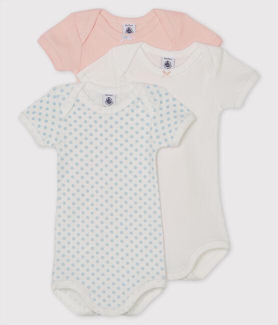 Confezione da 3 body manica corta bebè femmina lotto .