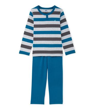Pigiama per bambino in jersey a righe grigio Poussiere / grigio Maki