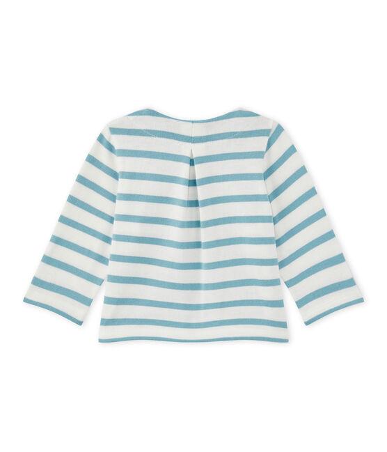 Cardigan bebé bambina rigato bianco Marshmallow / blu Mimi