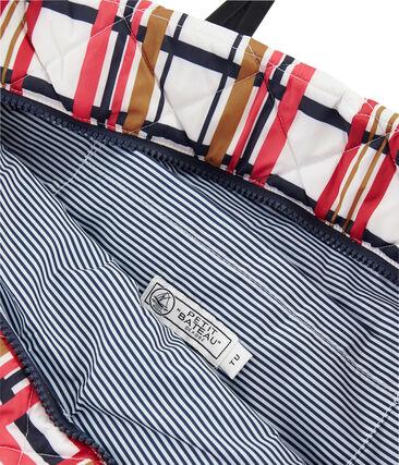 Shopping bag trapuntata bianco Marshmallow / bianco Multico