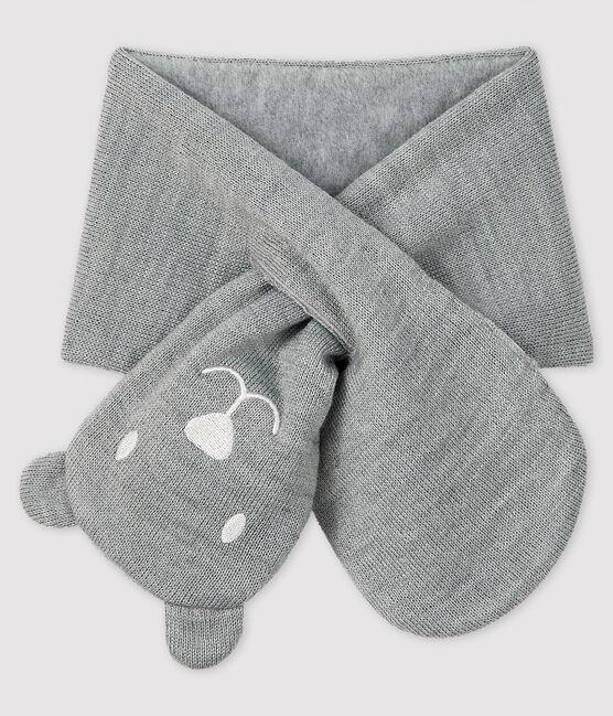 Sciarpa bebè foderata in micro pile grigio Subway
