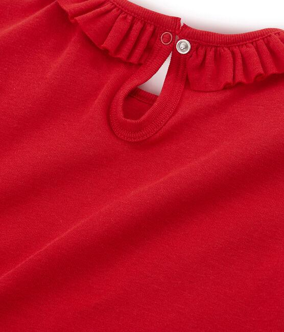 T-shirt a maniche corte bambina rosso Terkuit