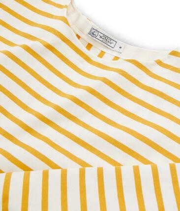 Marinière donna grafica beige Coquille / giallo Boudor