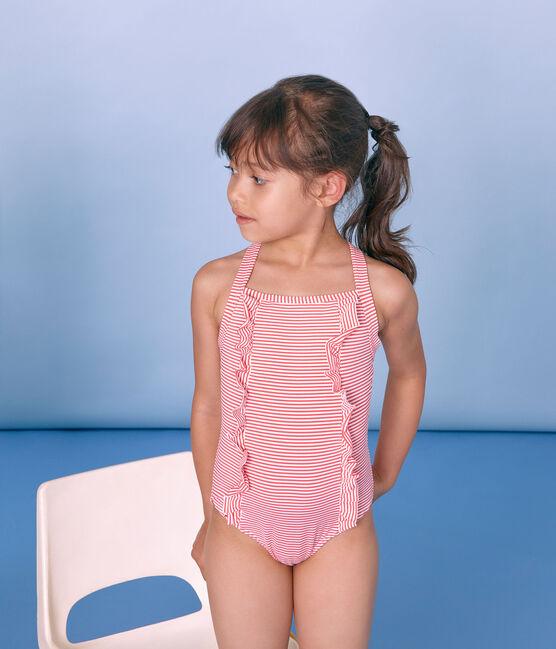 Costume intero bambina rosa Petal / blu Crystal