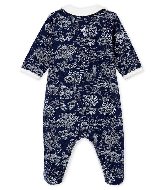 Tutina per bebé femmina blu Smoking / bianco Ecume