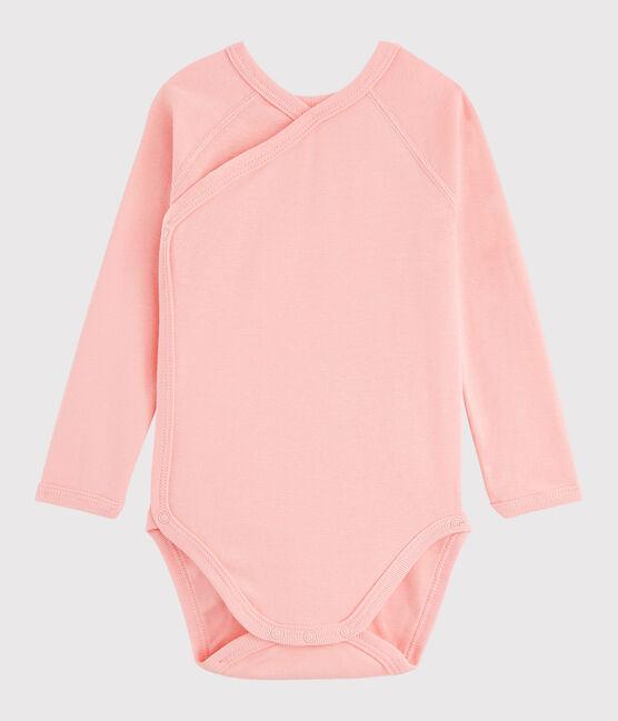 Body incrociato a manica lunga bebè femmina rosa Rosako
