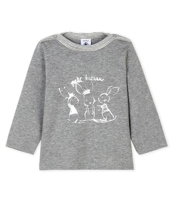 T-shirt a manica lunga bebè maschio a righe grigio Subway