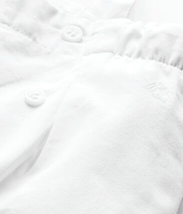 Salopette bambina bianco Ecume