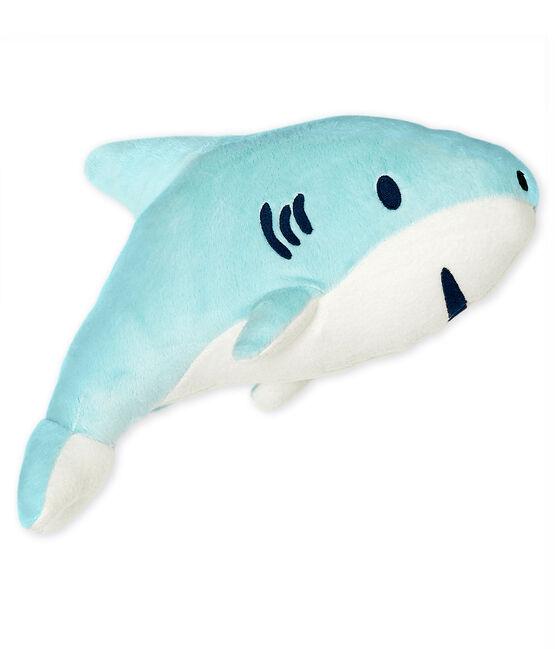 Doudou squalo in ciniglia blu Glacis